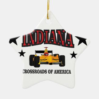 Ornamento De Cerâmica Estrada transversaa de Indiana