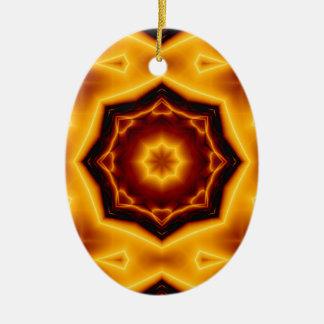 Ornamento De Cerâmica Estrela aguçado do caleidoscópio oito no fogo