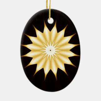 Ornamento De Cerâmica Estrela amarela brilhante do design do