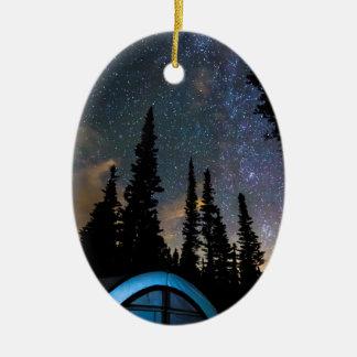Ornamento De Cerâmica Estrela clara de acampamento da estrela brilhante