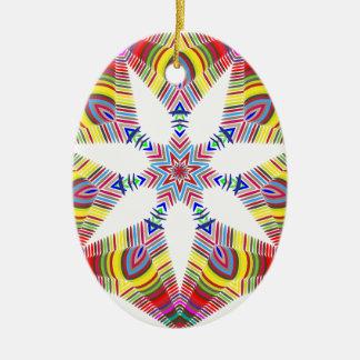 Ornamento De Cerâmica Estrela colorida