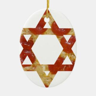 Ornamento De Cerâmica estrela de David da pizza