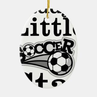 Ornamento De Cerâmica Estrela de futebol do pai pouca