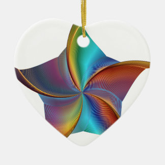 Ornamento De Cerâmica Estrela de roda de prisma colorido do arco-íris
