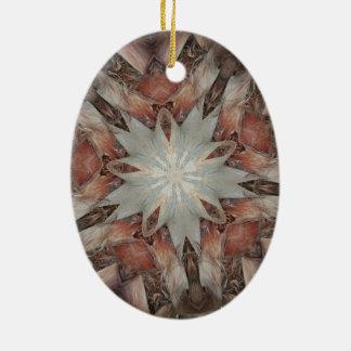 Ornamento De Cerâmica Estrela do design do caleidoscópio do tronco da