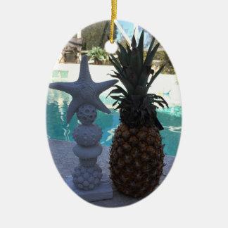 Ornamento De Cerâmica Estrela do mar do abacaxi