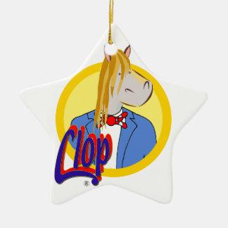 Ornamento De Cerâmica Estrela do Natal Clop. Muito bonito e original