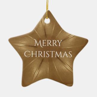 Ornamento De Cerâmica Estrela elegante do caleidoscópio do Natal de