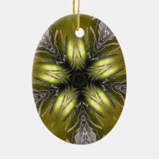 Ornamento De Cerâmica Estrela elegante do Natal do caleidoscópio da