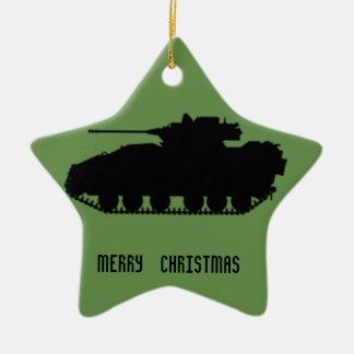 Ornamento De Cerâmica Estrela militar do tanque com parte traseira de