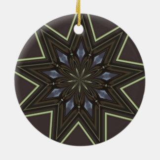 Ornamento De Cerâmica Estrela nove aguçado
