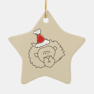 Ornamento De Cerâmica Estrela vermelha da astrologia engraçada do Natal
