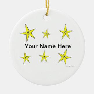 Ornamento De Cerâmica Estrelas