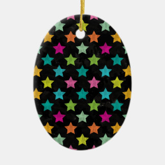Ornamento De Cerâmica Estrelas coloridas III