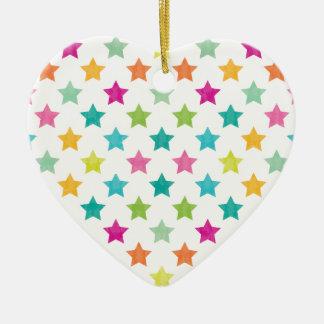 Ornamento De Cerâmica Estrelas coloridas IV