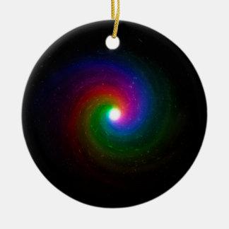 Ornamento De Cerâmica Estrelas coloridas que rodam para um centro