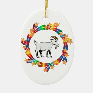Ornamento De Cerâmica Estrelas da cabra