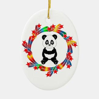 Ornamento De Cerâmica Estrelas da panda
