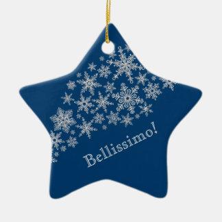 Ornamento De Cerâmica Estrelas de cumprimento pessoais de Bellissimo