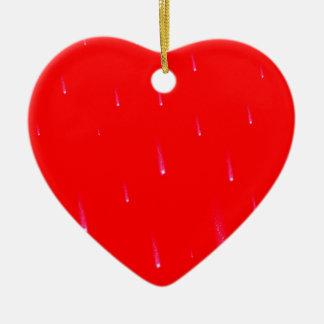 Ornamento De Cerâmica Estrelas de queda de queda vermelhas do Natal