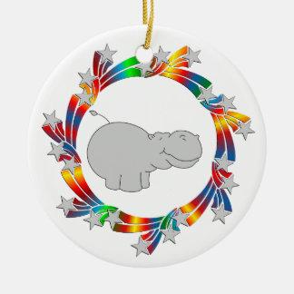 Ornamento De Cerâmica Estrelas do hipopótamo