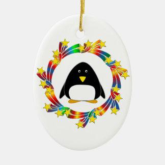 Ornamento De Cerâmica Estrelas do pinguim