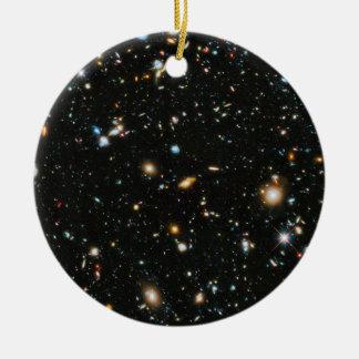 Ornamento De Cerâmica Estrelas e galáxias do espaço profundo