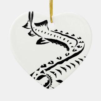 Ornamento De Cerâmica Esturjão tribal - beluga de Huso