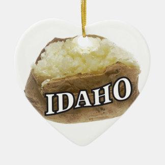 Ornamento De Cerâmica Etiqueta da batata de Idaho