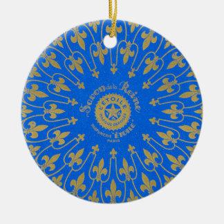 Ornamento De Cerâmica Etiqueta de Savon de la Reine Sabão