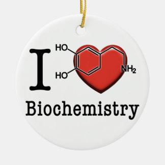 Ornamento De Cerâmica Eu amo a bioquímica