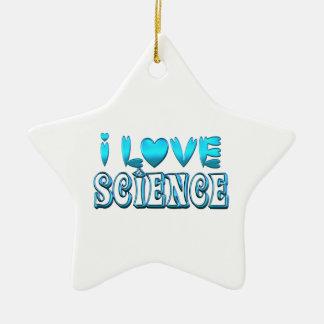 Ornamento De Cerâmica Eu amo a ciência