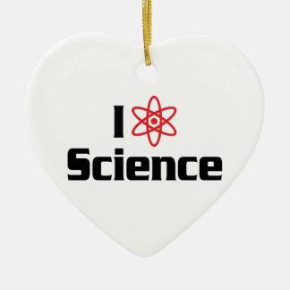 Ornamento De Cerâmica Eu amo a ciência do coração - cientista da física