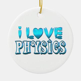 Ornamento De Cerâmica Eu amo a física