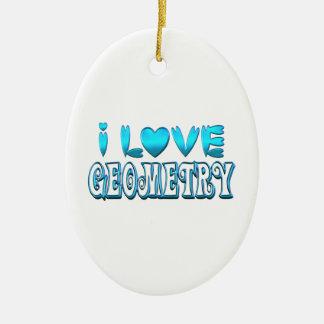 Ornamento De Cerâmica Eu amo a geometria