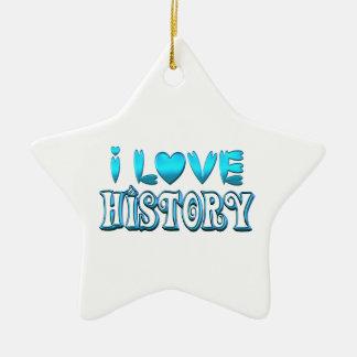 Ornamento De Cerâmica Eu amo a história