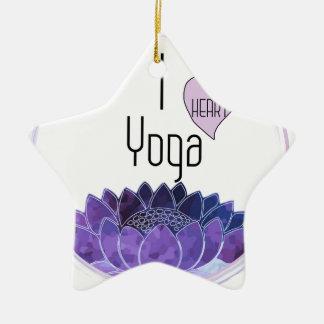 Ornamento De Cerâmica Eu amo a ioga