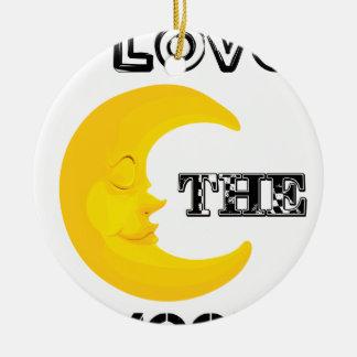Ornamento De Cerâmica Eu amo a lua