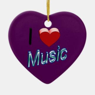 Ornamento De Cerâmica Eu amo a música 2