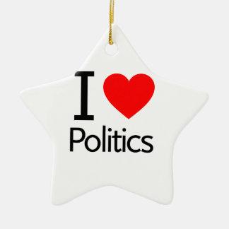 Ornamento De Cerâmica Eu amo a política
