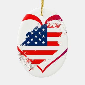 Ornamento De Cerâmica Eu amo América