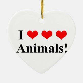 Ornamento De Cerâmica Eu amo animais!