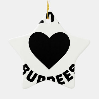 Ornamento De Cerâmica Eu amo Burpees