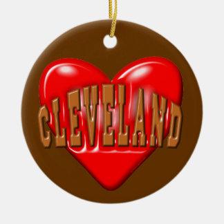 Ornamento De Cerâmica Eu amo Cleveland