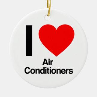 Ornamento De Cerâmica eu amo condicionadores de ar