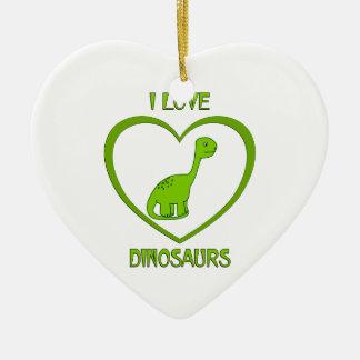 Ornamento De Cerâmica Eu amo dinossauros