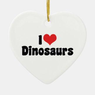 Ornamento De Cerâmica Eu amo dinossauros do coração - caçador do fóssil