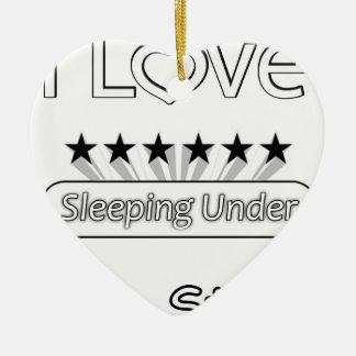 Ornamento De Cerâmica Eu amo dormir sob as estrelas