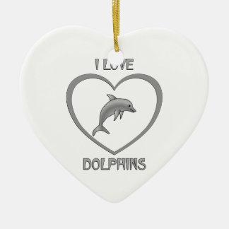 Ornamento De Cerâmica Eu amo golfinhos