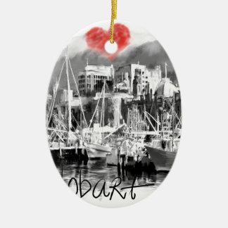 Ornamento De Cerâmica Eu amo Hobart